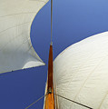The Genoa And Mainsail Of A Classic Sailboat by John Harmon