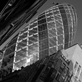 The Gherkin Black And White by Chris Day