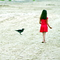The Girl And The Raven by Vadim Grabbe