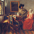 The Glass Of Wine by Jan Vermeer
