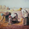 The Gleaners After Millet By My Dad by Anne-Elizabeth Whiteway