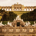 The Gloriette And The Neptune Fountain - Vienna, Austria by Nico Trinkhaus