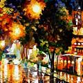 The Glowing Night by Leonid Afremov