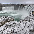 The Godafoss Falls In Winter by Matt Swinden
