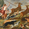 The Goddess Diana And Her Nymphs Hunting Deer by Follower of Peter Paul Rubens