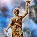 The Goddess Of Liberty - Texas State Capitol by Wendy J St Christopher