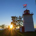 The Goderich Lighthouse At Sunset by Jay Smith