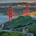 The Golden Gate At Sunset by Rick Berk