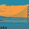 The Golden Gate Bridge In Sfo California Travel Poster 2 by Celestial Images