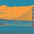 The Golden Gate Bridge In Sfo California Travel Poster by Celestial Images