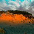 The Golden Hour Illuminating The Dunes by Myer Bornstein