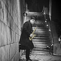 The Golden Saxophone Player by Stwayne Keubrick