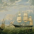 The Golden State Entering New York Harbor By Fitz Henry Lane 1854 by Fitz Henry Lane