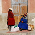 The Gossips Gossip Sitting In The Portal Were Counted by Juan Gnecco