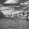 The Grand Canal Bw by Steve Harrington