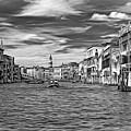 The Grand Canal - Paint Bw by Steve Harrington