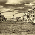 The Grand Canal - Paint Sepia by Steve Harrington