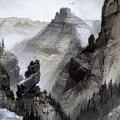 The Grand Canyon Drawing            by Thomas Moran