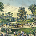 The Grand Drive, Central Park, New York, 1869 by Currier and Ives