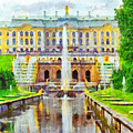 The Grand Palace At Peterhof by Digital Photographic Arts