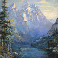 The Grand Tetons And Jenny Lake by Lewis A Ramsey