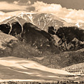 The Great Colorado Sand Dunes In Sepia by James BO  Insogna