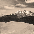 The Great Sand Dunes And Sangre De Cristo Mountains - Sepia by James BO  Insogna