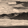 The Great Sand Dunes Panorama 2 Sepia by James BO  Insogna