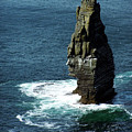The Great Sea Stack Brananmore Cliffs Of Moher Ireland by Teresa Mucha