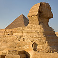 The Great Sphinx And Pyramid Of Cheops by Aivar Mikko