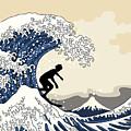 The Great Surfer Off Kanagawa by Julia Jasiczak