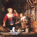 The Grocery Shop 1672 by Dou Gerrit