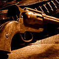 The Gun That Won The West - Sepia by Olivier Le Queinec