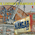 The Hangar Bar Poster Work A by David Lee Thompson