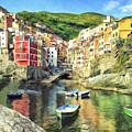 The Harbor At Rio Maggiore by Dominic Piperata