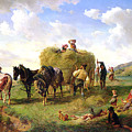 The Hay Harvest by Hermann Kauffmann