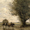 The Haycart by Jean Baptiste Camille Corot