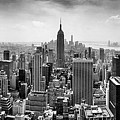 New York City Skyline Bw by Az Jackson