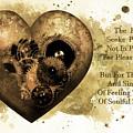 The Heart Seeks Pleasure Sepia Gold Art by Isabella Howard