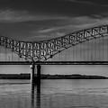The Hernando De Soto Bridge Bw 001 by Lance Vaughn