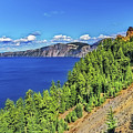 The Hills Of Crater Lake Oregon by Nancy Marie Ricketts