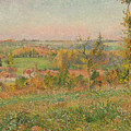 The Hills Of Thierceville Seen From The Country Lane by Camille Pissarro