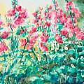 The Hollyhock Field by Judith Kerrigan Ribbens