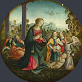 The Holy Family With Angels by PixBreak Art