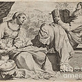 The Holy Family With Saint John The Baptist by Annibale Carracci