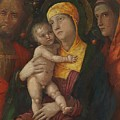 The Holy Family With Saint Mary Magdalen 1500 by Mantegna Andrea