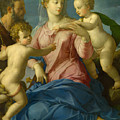 The Holy Family With The Infant Saint John The Baptist, Madonna Stroganoff  by Bronzino
