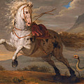 The Horse And The Snake by Benigne Gagneraux