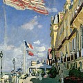 The Hotel Des Roches Noires At Trouville by Claude Monet