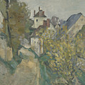 The House Of Dr Gachet In Auvers Sur Oise by Paul Cezanne